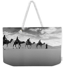 Tourists Riding Camels Weekender Tote Bag by Panoramic Images