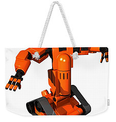 Toy Robot, Artwork Weekender Tote Bag by Victor Habbick Visions
