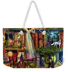 Treasure Hunt Book Shelf Weekender Tote Bag by Aimee Stewart