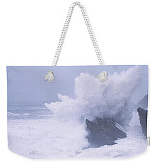 Waves Breaking On The Coast, Shore Weekender Tote Bag by Panoramic Images