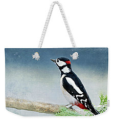 Woodpecker Weekender Tote Bag by Heike Hultsch