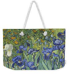 Irises Weekender Tote Bag by Vincent Van Gogh