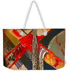 Saxophone Collection Weekender Tote Bag by Marvin Blaine