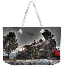 Weekender Tote Bag featuring the photograph 1880 Train by Bill Gabbert