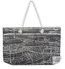 1897 Vintage Nyc Map Of The South Bronx Weekender Tote Bag by Stephen Stookey