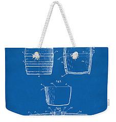 1898 Beer Keg Patent Artwork - Blueprint Weekender Tote Bag by Nikki Marie Smith