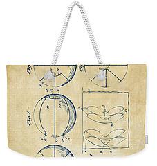 1929 Basketball Patent Artwork - Vintage Weekender Tote Bag by Nikki Marie Smith