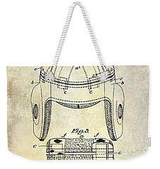 1929 Football Helmet Patent Drawing Weekender Tote Bag by Jon Neidert