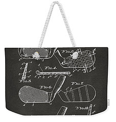 1936 Golf Club Patent Artwork - Gray Weekender Tote Bag by Nikki Marie Smith