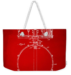 1939 Snare Drum Patent Red Weekender Tote Bag by Nikki Marie Smith