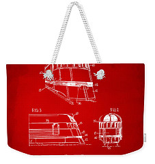 1941 Zephyr Train Patent Red Weekender Tote Bag by Nikki Marie Smith