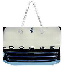1958 Dodge Sweptside Truck Grille Weekender Tote Bag by Jill Reger