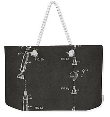 1963 Space Capsule Patent Gray Weekender Tote Bag by Nikki Marie Smith