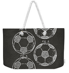 1964 Soccerball Patent Artwork - Gray Weekender Tote Bag by Nikki Marie Smith