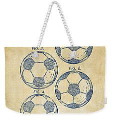 1964 Soccerball Patent Artwork - Vintage Weekender Tote Bag by Nikki Marie Smith