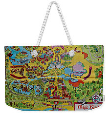 1971 Original Map Of The Magic Kingdom Weekender Tote Bag by Rob Hans