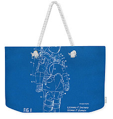1973 Space Suit Patent Inventors Artwork - Blueprint Weekender Tote Bag by Nikki Marie Smith