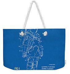 1973 Space Suit Patent Inventors Artwork - Blueprint Weekender Tote Bag by Nikki Marie Smith