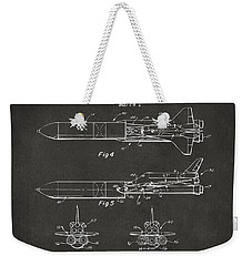 1975 Space Vehicle Patent - Gray Weekender Tote Bag by Nikki Marie Smith