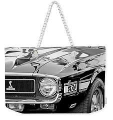 1969 Shelby Cobra Gt500 Front End - Grille Emblem Weekender Tote Bag by Jill Reger