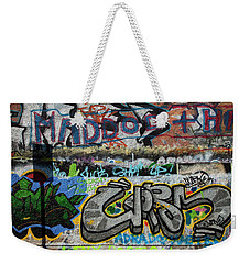 Artistic Graffiti On The U2 Wall Weekender Tote Bag by Panoramic Images