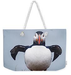 Atlantic Puffin Fratercula Arctica Weekender Tote Bag by Panoramic Images
