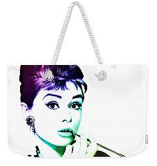 Audrey Hepburn Weekender Tote Bag by Marianna Mills
