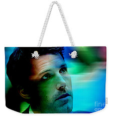 Ben Affleck Weekender Tote Bag by Marvin Blaine