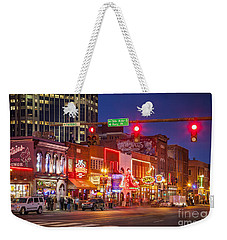 Broadway Street Nashville Weekender Tote Bag by Brian Jannsen