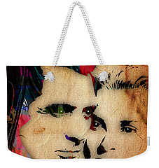 Cary Grant And Grace Kelly Collection Weekender Tote Bag by Marvin Blaine