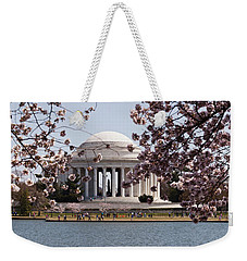 Cherry Blossom Trees In The Tidal Basin Weekender Tote Bag by Panoramic Images