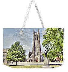 Duke Chapel In Spring Weekender Tote Bag by Emily Kay