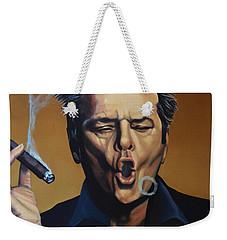 Jack Nicholson Painting Weekender Tote Bag by Paul Meijering