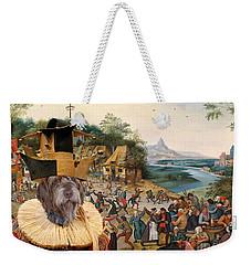 Korthals Pointing Griffon Art Canvas Print Weekender Tote Bag by Sandra Sij
