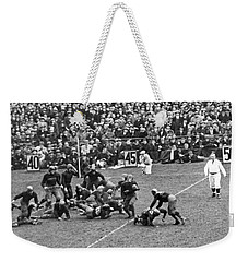 Notre Dame-army Football Game Weekender Tote Bag by Underwood Archives