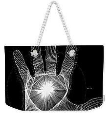 Quantum Hand Through My Eyes Weekender Tote Bag by Jason Padgett