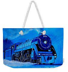 Royal Blue Express Weekender Tote Bag by Pjohn Artman