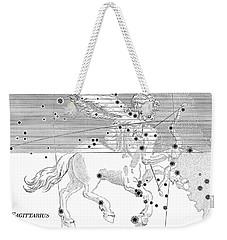 Sagittarius Constellation Zodiac Sign Weekender Tote Bag by Science Source
