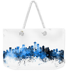 Seattle Washington Skyline Weekender Tote Bag by Michael Tompsett