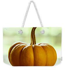 Small Orange Pumpkin Weekender Tote Bag by Iris Richardson