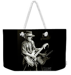 Stevie Ray Vaughan 1984 Weekender Tote Bag by Chuck Spang