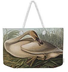 Trumpeter Swan Weekender Tote Bag by John James Audubon