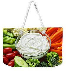 Vegetables And Dip Weekender Tote Bag by Elena Elisseeva