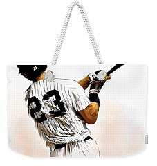 23   Don Mattingly  Weekender Tote Bag by Iconic Images Art Gallery David Pucciarelli