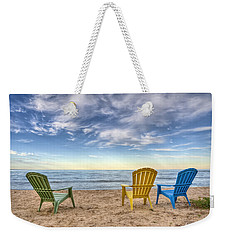 3 Chairs Weekender Tote Bag by Scott Norris