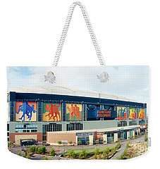 High Angle View Of A Baseball Stadium Weekender Tote Bag by Panoramic Images