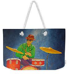 Jazz Drummer Weekender Tote Bag by Pamela Allegretto