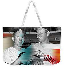 Mickey Mantle Weekender Tote Bag by Marvin Blaine