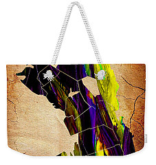 Oakland Map Watercolor Weekender Tote Bag by Marvin Blaine