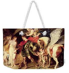 Perseus Liberating Andromeda Weekender Tote Bag by Peter Paul Rubens